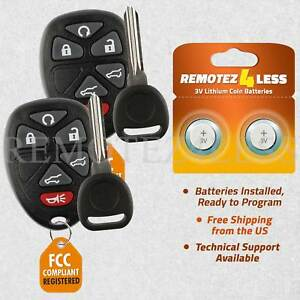 2 New Replacement Keyless Remote Car Fob For 15913427 Circle Plus Keys N Clips
