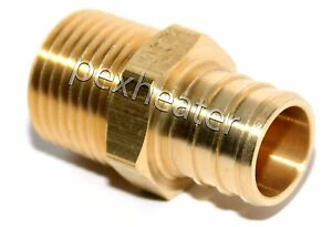 25 3 4 Pex X 1 2 Mpt Threaded Adapter Brass Crimping Fittings