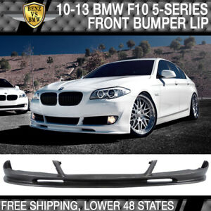 Fits 10 13 Bmw F10 5 Series 3d Style Front Bumper Lip Unpainted Pu Urethane