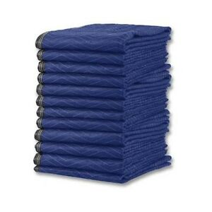 Deluxe Moving Blankets 12 Heavy Duty Microfiber Moving Pads 65 Lbs dozen