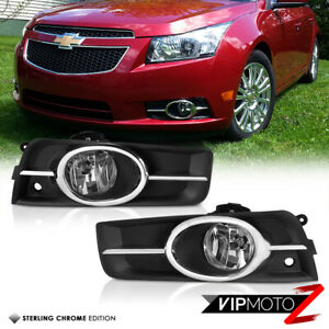 2011 2014 Chevy Cruze Chrome Front Bumper Driving Fog Lights Lamp Harness Switch