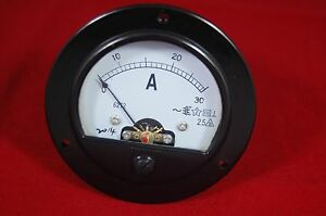 Ac 0 30a Round Analog Ammeter Panel Amp Current Meter Dia 90mm Direct Connect