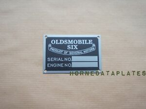Oldsmobile Six Data Plate 1925 1926 1927 1928 1929 1930 1931 1932 1933 Id Tag