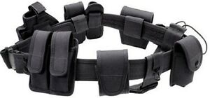 Black Law Enforcement Tactical Duty Belt Holster Accessories St53b