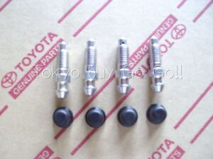 Toyota Corolla Cp Coupe Ae86 Brake Bleeder Plug Cap Set New Genuine Oem Parts