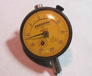 Federal P31 005mm Dial Indicator Gauge W Revolution Dial 2 Face Used