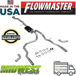 Flowmaster Cat Back Exhaust System Fits 1999 2006 Chevrolet Silverado 4 8l 5 3l