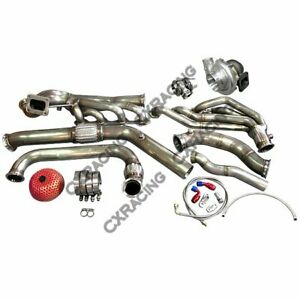 Cxracing Turbo Header Manifold Downpipe Wastegate Kit For 64 68 Ford Mustang 289