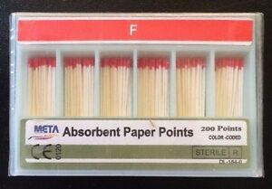 Dental Paper Points Fine 10x Of 200 pk 2000 Total Pieces