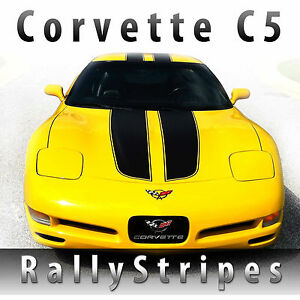 Chevy Corvette C5 Hardtop Rally Stripes Racing Decal Kit Pre Cut 1997 2004