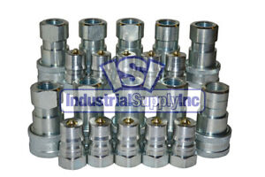 10 Sets Of 1 2 Iso 7241 1 B Hydraulic Quick Disconnect Couplers