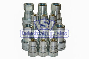 6 Sets Of 1 2 Iso 7241 1 B Hydraulic Quick Disconnect Couplers
