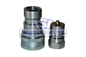 6 Sets Of 1 Iso 7241 1 B Hydraulic Quick Disconnect Couplers