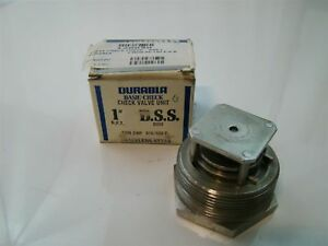 Durabla Basic check Valve Stainless Steel Unit 1 8005 1500cwp 910 500