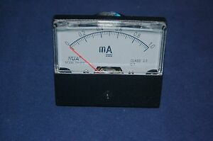 Dc 1ma Analog Ammeter Panel Amp Current Meter Dc 0 1ma 60 70mm Directly Connect