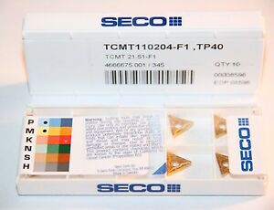 Tcmt 21 51 F1 Tp40 Seco 10 Inserts Factory Pack