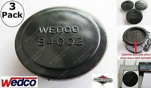 3 New Wedco Black Stopper Discs 84002 Wedco Briggs Stratton Oem Gas Fuel Can Jug