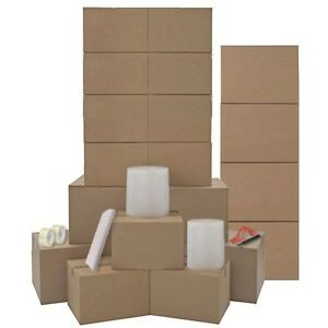Moving Boxes Kit For One Room 20 Heavy Duty Moving Boxes Packing Supplies