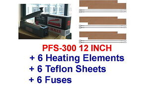 Pfs 300 12 Hand Impulse Sealer With 6 Heating Elements 6 Ptfi Sheets