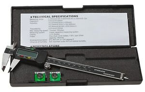 6 Inch Lcd Digital Caliper With Extra Battery And Case Reloading Calipers