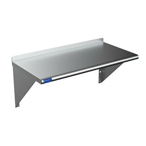Stainless Steel Commercial Wall Shelf Nsf Wall Mount Metal Shelving