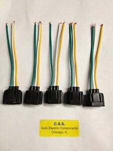 Ford 6g Alternator Harness Connector Plug 3 Wire Repair Plug Lead lot Of 5