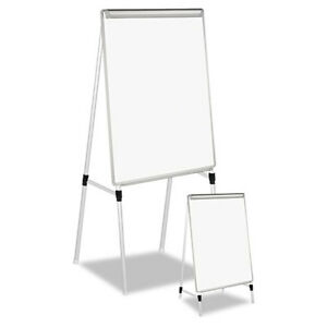 Universal Adjustable White Board Easel 29 X 41 White silver