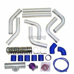 2 25 Universal Alum Intercooler Pipe Piping Kit Bov Turbo Blow Off Valve Kit