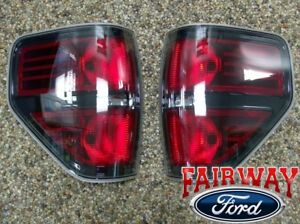 2009 Thru 2014 Ford F 150 F150 Svt Raptor Black Tail Lights Lamps Pair