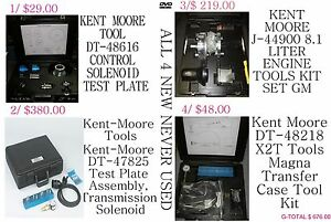 4 Different Set Of Kent Moore Engine Tool Kit