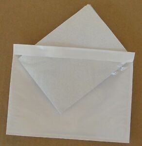 7 5 X 5 5 Clear Adhesive Packing List Shipping Label Envelopes Pouches 1000 Ct