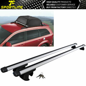 135cm 53 Universal Fits Aluminum Top Roof Rack Cross Bar Luggage Carrier W Lock