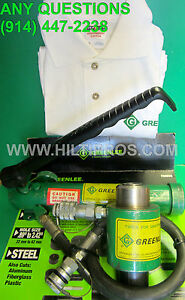 Greenlee Hydraulic Knockout Punch Ram pump Set Free T shirt L k fast Shipping