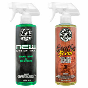 Chemical Guys Air_300 New Car Scent Leather Scent Combo Pack 16 Oz