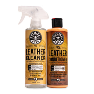 Chemical Guys Spi_109_16 Leather Cleaner Conditioner Leather Care Kit 16 Oz