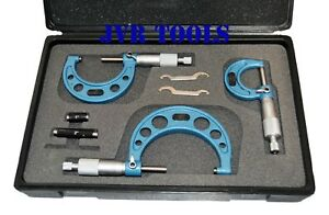 3 pc 0 3 Inch Outside Micrometers Set Increments 0 001