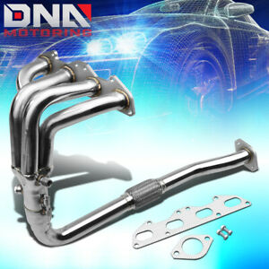 Stainless 4 1 Header For 95 99 Mit Eclipse 2g 2 0l Non Turbo Exhaust Manifold