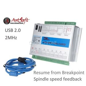 Upgrade 6 Axis 2 Mhz Usb Mach3 Cnc Motion Control Card Breakout Board Windows 7