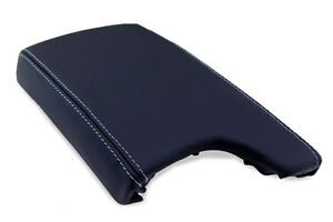 Center Console Armrest Real Leather For Pontiac Grand Prix 04 08 Gray Stitch