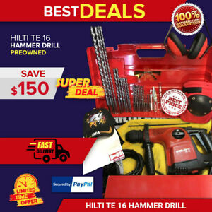 Hilti Te 16 Hammer Drill In Good Condition free Bits Fast Shipping