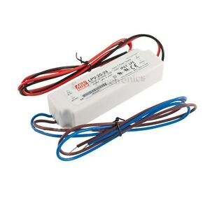 Mw Mean Well Lpv 20 24 Led Driver 20 2w 24v Ip67 Power Supply Waterproof
