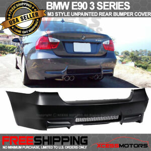 Fit 06 11 Bmw E90 3 Series M3 Style Pp Rear Bumper Dual Twin Muffler Outlets