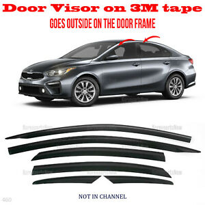 2s Tape Smoke Door Window Vent Visor Deflector 6pcs Fits Kia Forte 2019 2021