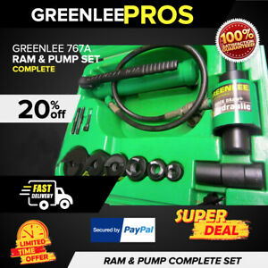 Greenlee 767a Ram Hand Pump Hydraulic Driver Kit Preowned L k Fast Ship
