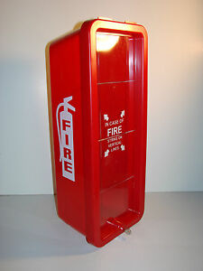 Red Firetech Ft10p Heavy Duty Plastic Fire Extinguisher Cabinet 10