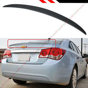 For 2011 2014 Chevy Cheverlot Cruze Sport Flush Fit Trunk Deck Lip Spoiler Wing