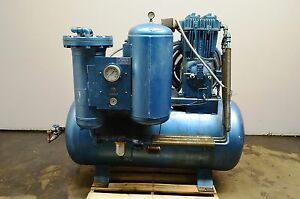 Air Techniques Air Compressor And Dryer Model 58 10 Hp Motor 100 Gal Tank