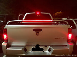 Dodge Ram Truck Rear Spoiler Wing Srt10 Style With Led Brake Light Primer Gray
