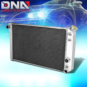 Tri Core Full Aluminum 3 Row Racing Radiator 82 02 Chevy S10 Blazer Corvette V8