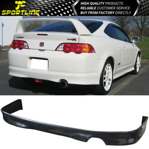 Fits 02 03 04 Acura Rsx Dc5 Black Poly Urethane Rear Bumper Lip Spoiler Bodykit